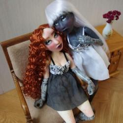 Bundle : Two BJD art doll,...